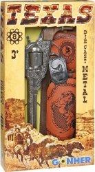 Rewolwer kowbojski metalowy z kabura Gonher