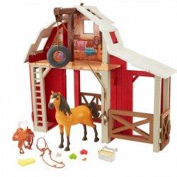 Zestaw z figurką Mustang: Duch wolności Stajnia i koń