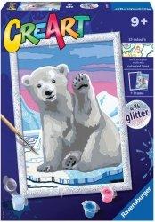 Malowanka CreArt dla dzieci Miś polarny
