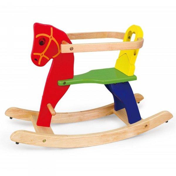 Viga Toys Drewniany Koń Na Biegunach
