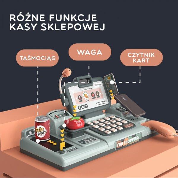 WOOPIE Kasa Sklepowa Dla Dzieci Skaner Waga Mikrofon + 25 Akcesoriów