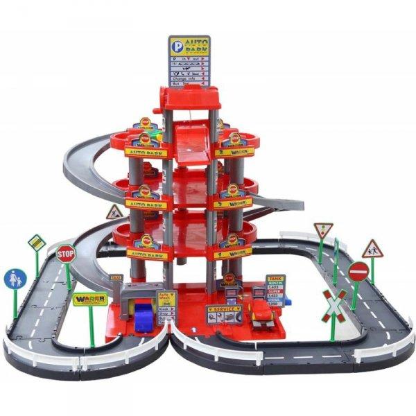 Wielki garaż Auto Park 3 auta Myjnia Tor 4 poziomy