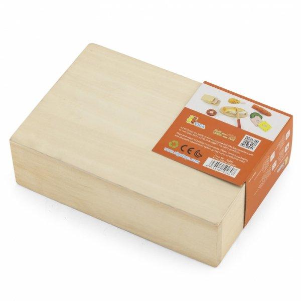 Viga Drewniany Zestaw Lunch Box jedzenie do krojenia