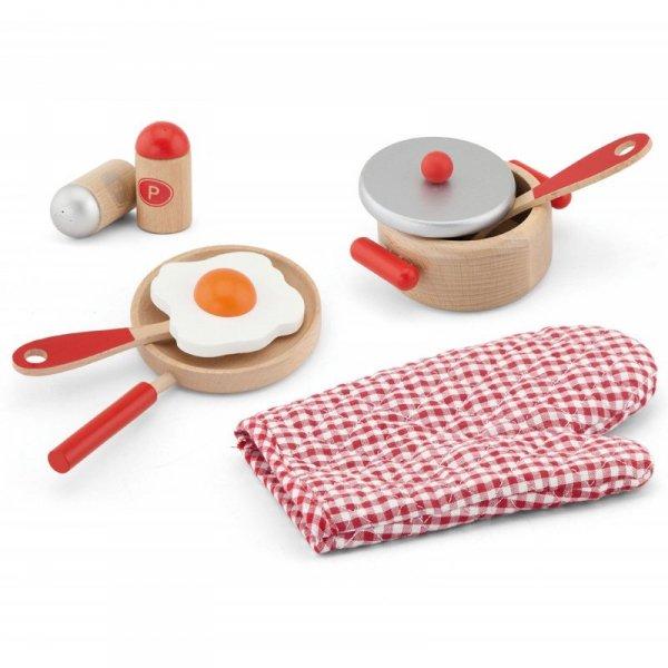 Zestaw śniadaniowy do kuchni Drewniany od Viga Toys