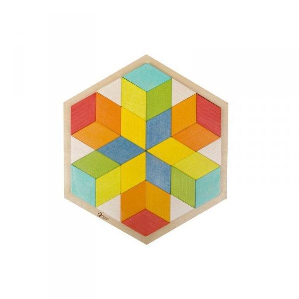 Drewniane Kolorowe Puzzle 3D Classic World