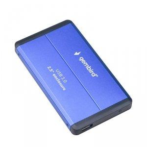 GEMBIRD OBUDOWA HDD/SSD USB 3.0 2.5 SATA, ALUMINIUM, NIEBIESKA