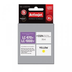 Tusz Activejet AB-1000YN (zamiennik Brother LC1000Y/970Y; Supreme; 35 ml; żółty)
