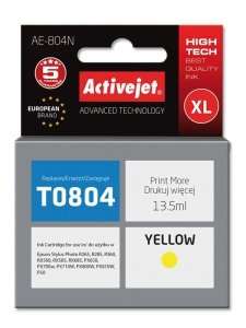 Tusz Activejet AE-804N (zamiennik Epson T0804; Supreme; 13.5 ml; żółty)