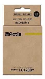 Tusz ACTIS KB-1280Y (zamiennik Brother LC1280Y; Standard; 19 ml; żółty)