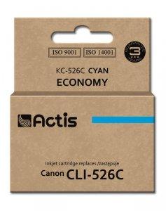 Tusz ACTIS KC-526C (zamiennik Canon CLI-526C; Standard; 10 ml; niebieski)