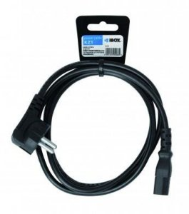 Kabel IBOX VDE SCHUKO 3X0,75MM MIEDŹ IKZ1 (C13 / IEC C13 / IEC 320 C13 - Schuko ; 1,5m; kolor czarny)