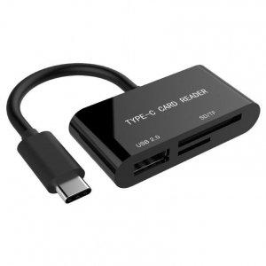 Czytnik kart GEMBIRD UHB-CR3-02 (Zewnętrzny; MicroSD, MicroSDHC, SDHC, Secure Digital)