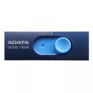 Pendrive ADATA UV220 AUV220-16G-RBLNV (16GB; USB 2.0; kolor niebieski)