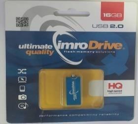 Pendrive IMRO EDGE/16G USB (16GB; USB 2.0; kolor niebieski)