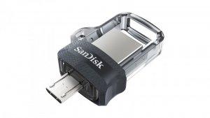 Pendrive SanDisk Ultra Dual Drive M3.0 SDDD3-032G-G46 (32GB; microUSB, USB 3.0; kolor szary)