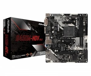Płyta główna Asrock B450M-HDV R4.0 (AM4; 2x DDR4 DIMM; Micro ATX)