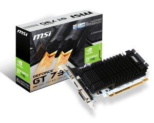 MSI GT 730 OC 2GB GDDR3 64b  DVI-D  HDMI  VGA