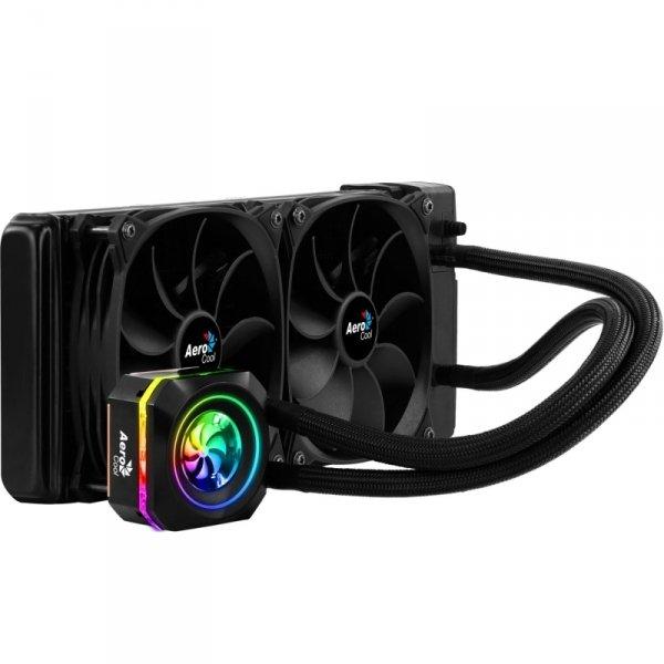 Chłodzenie wodne do procesora Aerocool PGS PULSE L240 RGB AEROPGSPULSE-L240RGB (120 mm; 1800 obr/min, 600 obr/min; RGB)