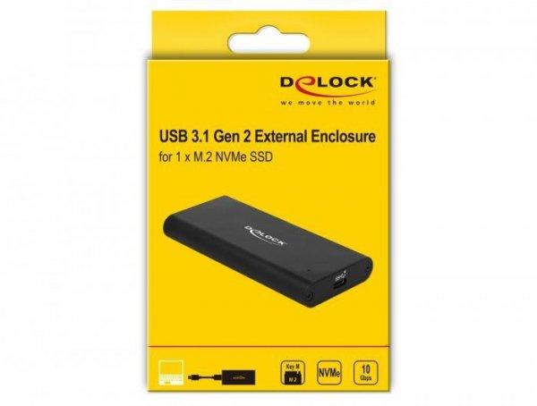 DeLOCK 42614 obudowa do dysków twardych Obudowa SSD Czarny