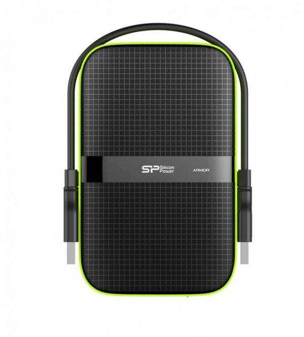 """Dysk zewnętrzny Silicon Power Armor A60 SP020TBPHDA60S3K (2 TB ; 2.5""""; USB 3.1; 5400 obr/min)"""