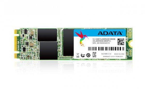 ADATA ASU800NS38-256GT-C urządzenie SSD M.2 256 GB Serial ATA III TLC