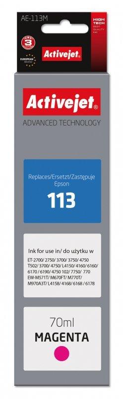 Tusz Activejet AE-113M (zamiennik Epson 113 C13T06B340; Supreme; 70ml; czerwony)