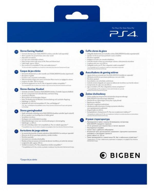 BigBen PS4 Gaming Headset V3 (czerwony)