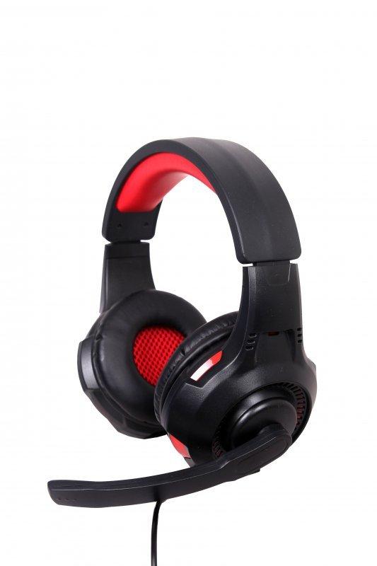 Gembird GHS-U-5.1-01 słuchawki/zestaw słuchawkowy Opaska na głowę Czarny, Czerwony