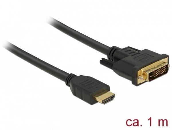 DeLOCK 85652 adapter kablowy 1 m HDMI Typu A (Standard) DVI Czarny