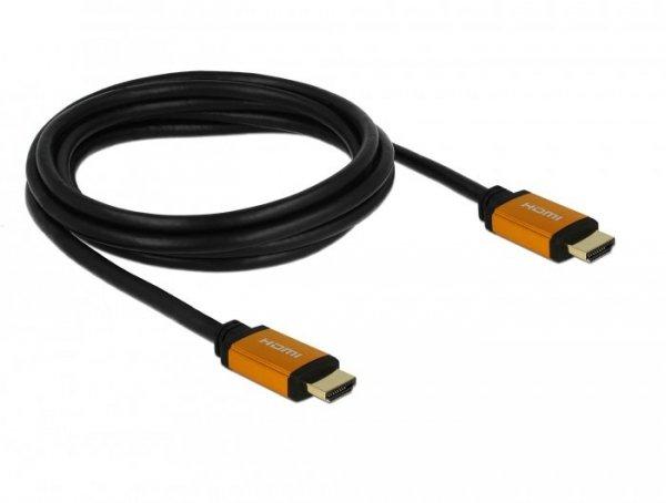 DeLOCK 85729 kabel HDMI 2 m HDMI Typu A (Standard) Czarny, Złoto