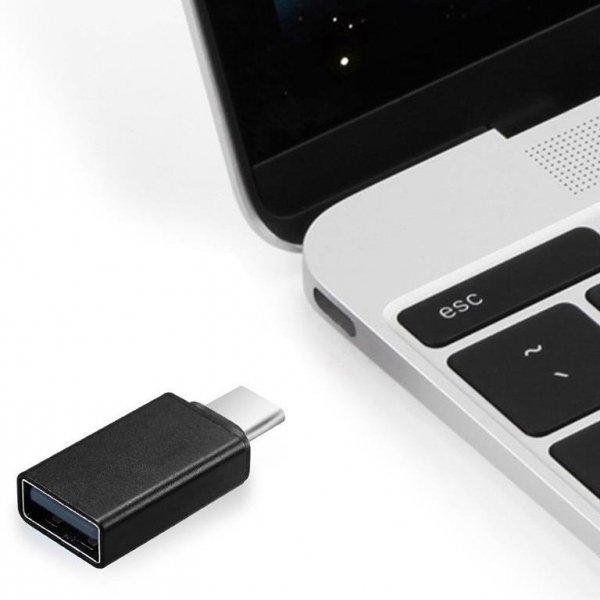 Adapter GEMBIRD A-USB2-CMAF-01 (USB typu C M - USB 2.0 F; kolor czarny)