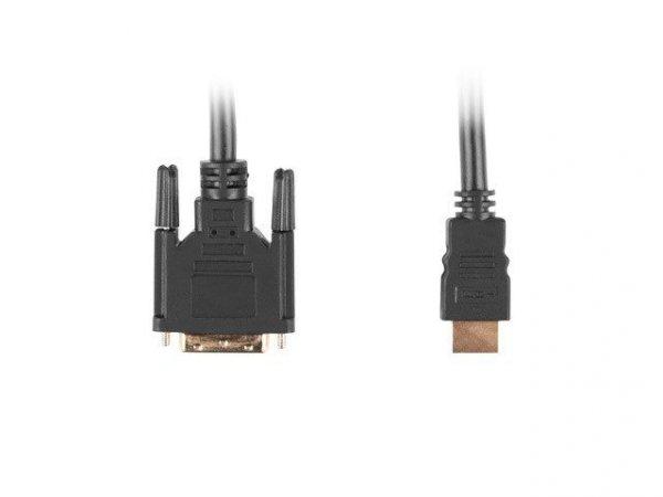 Kabel Lanberg CA-HDDV-10CC-0018-BK (HDMI M - DVI-D (18+1) M; 1,8m; kolor czarny)