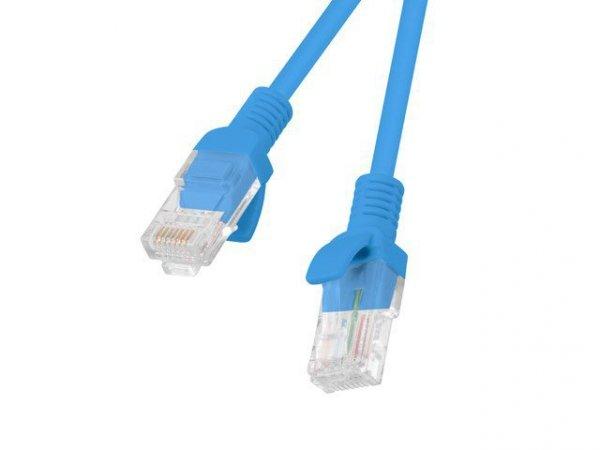 Patchcord UTP Lanberg PCU5-10CC-0200-B (RJ45 - RJ45 ; 2m; UTP; kat. 5e; kolor niebieski)