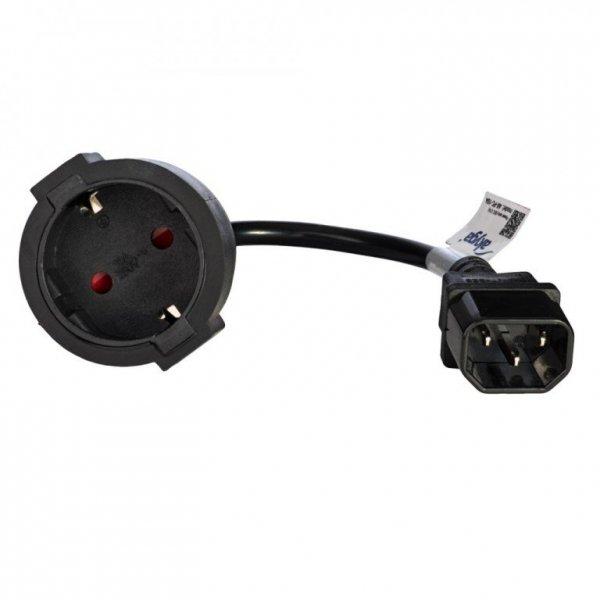 Kabel Akyga AK-PC-10A (C14 / IEC C14 / IEC 320 C14 M - Schuko F; 0,15m; kolor czarny)