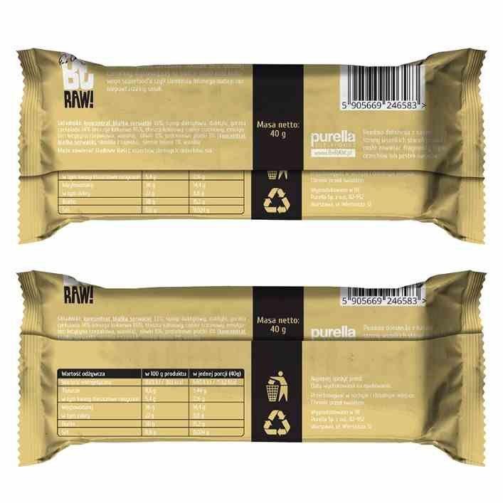 BeRAW Baton Proteinowy - Wanilia Purella, 40g