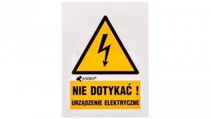 Tabliczka ostrzegawcza /Nie dotykać urządzenie elektryczne 52x74/ 1EOA/Q1/F
