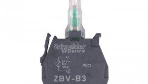 Zestaw świetlny z diodą LED zielony 24V AC/DC ZBVB3