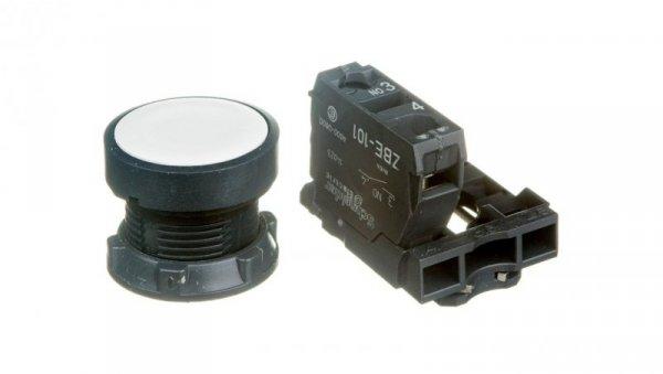 Przycisk sterowniczy 22mm biały 1Z z samopowrotem XB5AA11