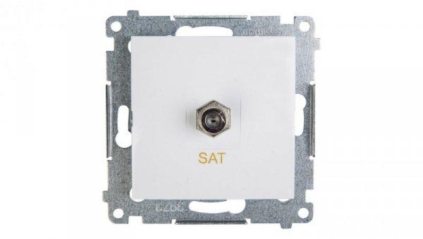 Simon 54 Gniazdo antenowe pojedyncze SAT białe DASF1.01/11