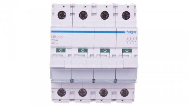 Rozłącznik modułowy 125A 4P SBN499