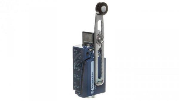 Wyłącznik krańcowy 1Z 1R migowy metal dźwignia z rolkową o regulowanej długości XCKD2545G11
