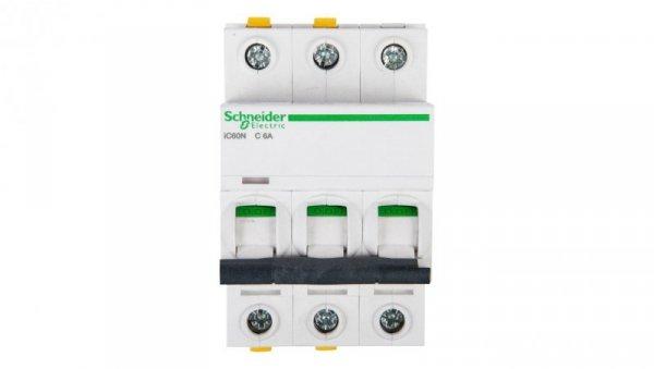 Wyłącznik nadprądowy 3P C 6A 6kA AC iC60N-C6-3 A9F04306