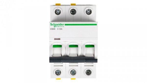 Wyłącznik nadprądowy 3P C 10A 6kA AC iC60N-C10-3 A9F04310