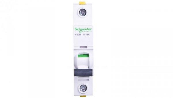 Wyłącznik nadprądowy 1P D 16A 6kA AC iC60N-D16 A9F05116