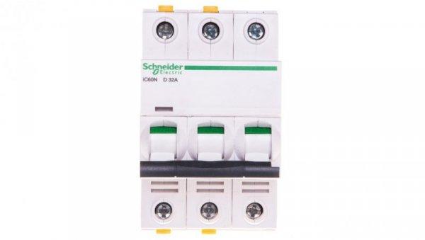 Wyłącznik nadprądowy 3P D 32A 6kA AC iC60N-D32-3 A9F05332