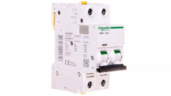 Wyłącznik nadprądowy 2P D 2A 6kA AC iC60N-D2-2 A9F05202