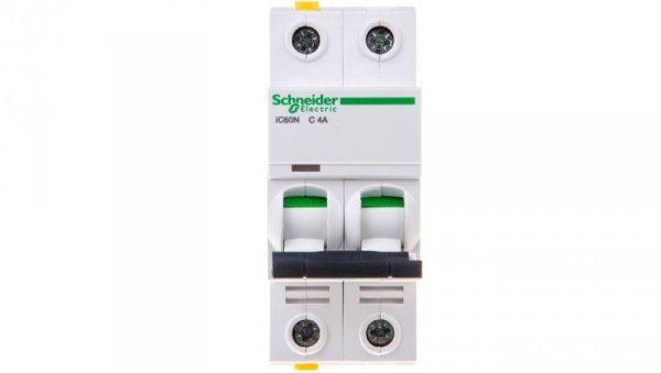 Wyłącznik nadprądowy 2P C 4A 6kA AC iC60N-C4-2 A9F04204