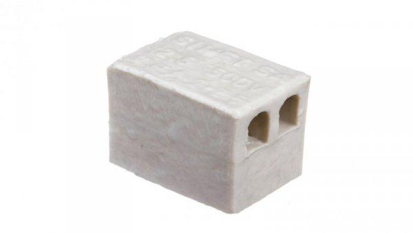 Złączka gwintowa porcelanowa 2,5mm2 2-torowa biała ZPA2-2,5 44232516