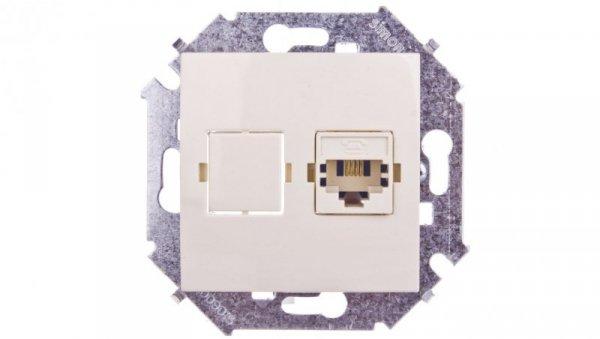 Simon 15 Gniazdo telefoniczne pojedyncze RJ11 beżowe 1591480-031