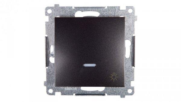 Simon 54 Przycisk /światło/ z podświetleniem antracyt DS1L.01/48